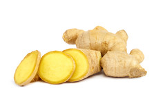Ginger Root Isolated On A Whit...