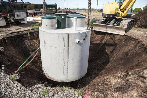 Photo  Installation of Septic System