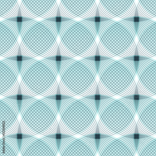 fototapeta na szkło Abstract blue background, geometric shapes with many thin lines. Seamless vector pattern. Technology background with gray lines.