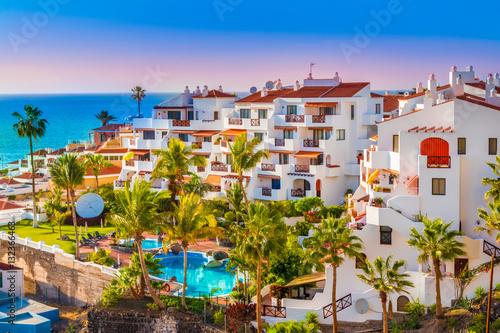 Foto op Plexiglas Canarische Eilanden Puerto de Santiago city, Atlantic Ocean coast, Tenerife, Canary island, Spain