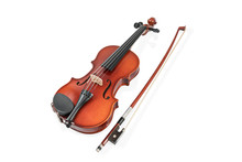 Classical Brown Violin And Bow...