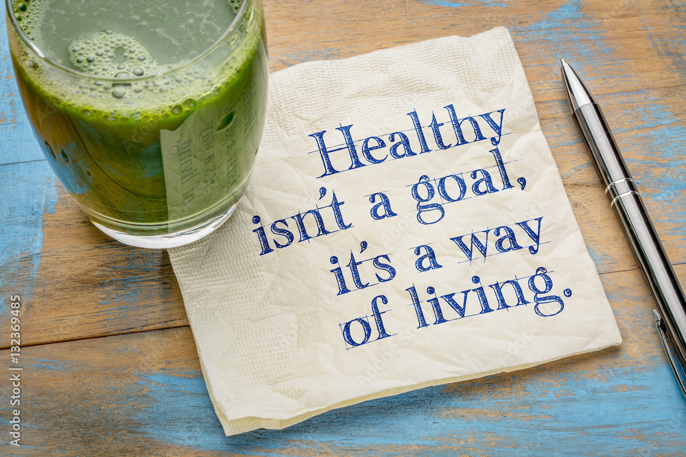 Fototapeta Healthy is a way of living