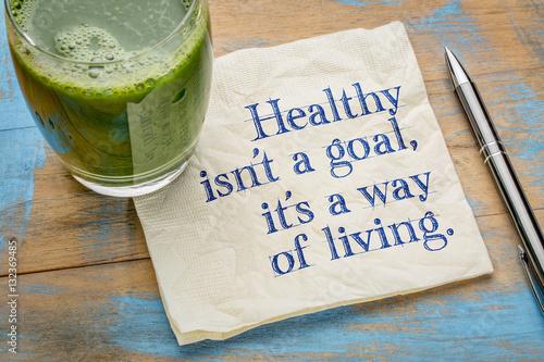 Obraz Healthy is a way of living - fototapety do salonu