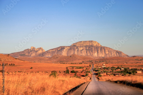 Canvas Prints Orange Glow Road through Madagascar