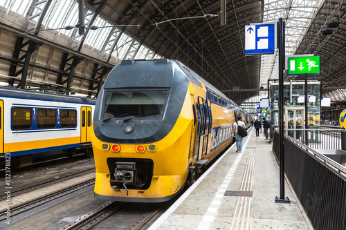 Central train station in Amsterdam