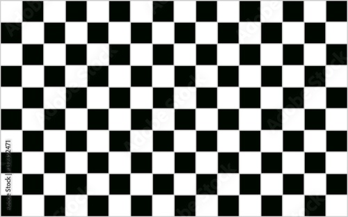 Fotografie, Obraz  Square Black and white checkered abstract background with grey b