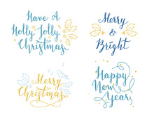 Lettering And Calligraphy. Christmas And New Year Greetings