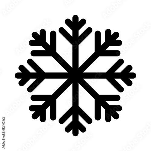 Fototapeta płatek śniegu ikona obraz