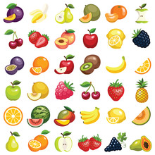 Fruit Icon Collection - Vector...