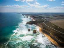 Amazing Natural View Of The Twelve Apostles By The Great Ocean Road In Victoria, Australia.