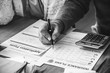 Elderly Couple Life Insurance Form Paper Concept