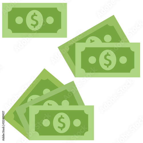 Fotografía Dollar cash Icon in flat style isolated on grey background.