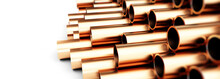 Copper Metal Pipe 3d Illustrat...
