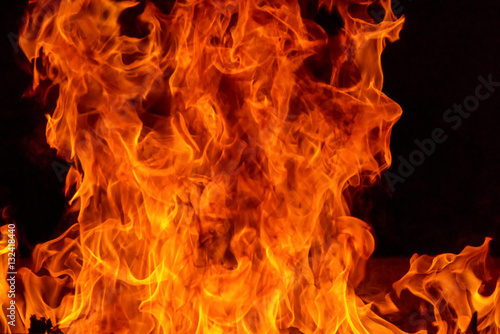 Photo sur Toile Feu, Flamme Blaze fire flame background and textured