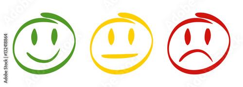 Cuadros en Lienzo 3 Feedback Smileys