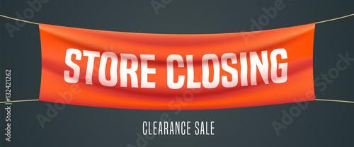 Foto Store closing vector illustration, background