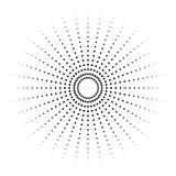 Kropkowany element promieniowy. Okrąg, okrągły kształt - 132422209