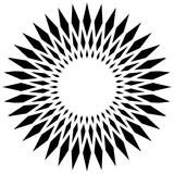 Okrągłe elementy geometryczne, obracające się kształty promieniujące na whi - 132422647