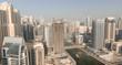 DUBAI - DECEMBER 5, 2016: Aerial view of Dubai Marina skyscraper