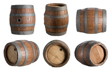 Six Angle Wood Barrel, Cask, I...