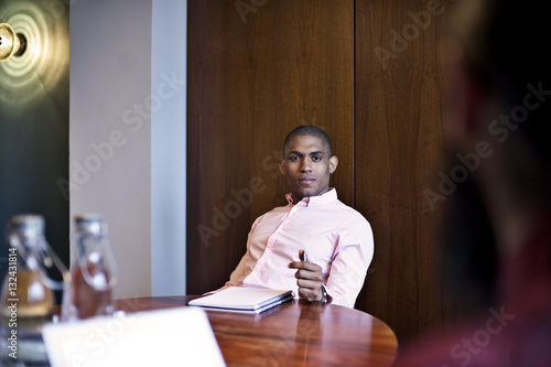 Black Business colleagues in an office meeting room
