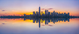 Fototapeta Nowy Jork - New York City Skyline Reflections panorama