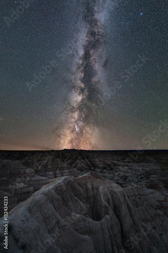 Photo  Milky Way Galaxy Over Badlands National Park