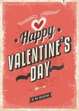 Retro Card Design For Valentines Day