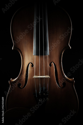 Stickers pour porte Musique Violin close up