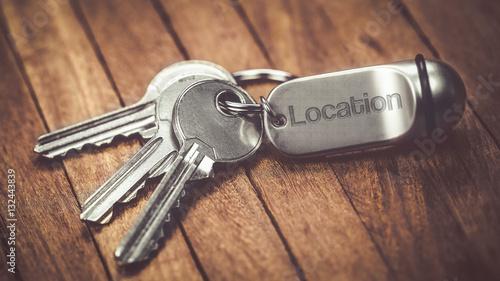 Fotografía  trousseau de clés :  location