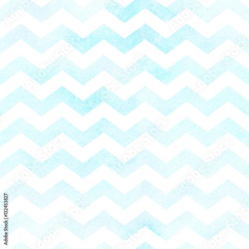 Stoffe zum Nähen Nahtlose Aquarell Chevron-Muster in blau. Nahtlose Muster.