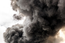 Polluting Smoke From A Large Fire