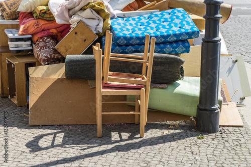 Stampa su Tela  bulky waste / Pile of bulky waste