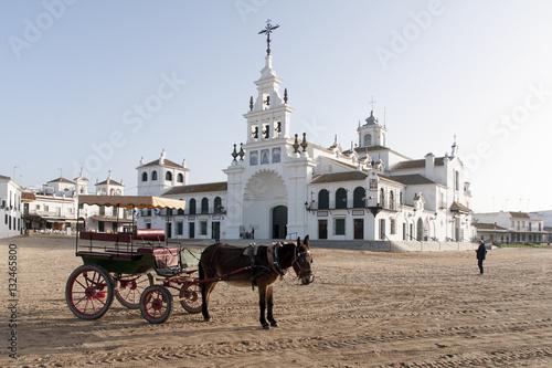 Ermita de El Rocío en la provincia de Huelva