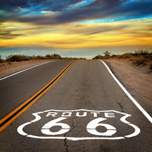 Route 66 Sign On The Floor Of ...