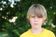 Serious Preteen Boy