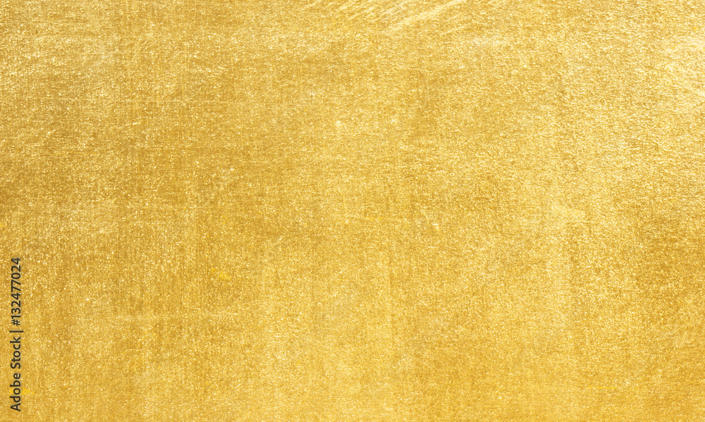 Fototapety, obrazy: Sheet metal gold solid black background