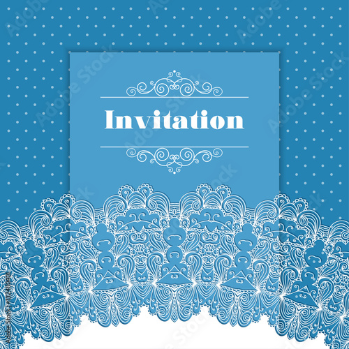 invitation template with lace border buy this stock vector and