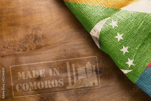 Staande foto Algerije Industrial symbol of Made in Comoros