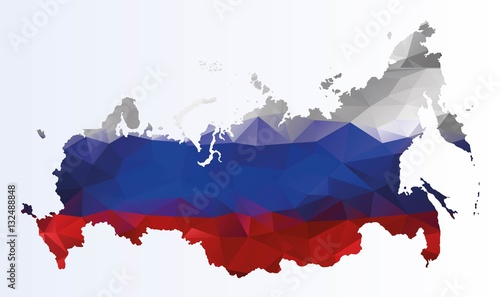 Photo Polygonal map of Russia