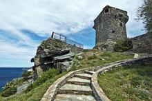 Steps To Paolina Tower In Corsican Nonza Village