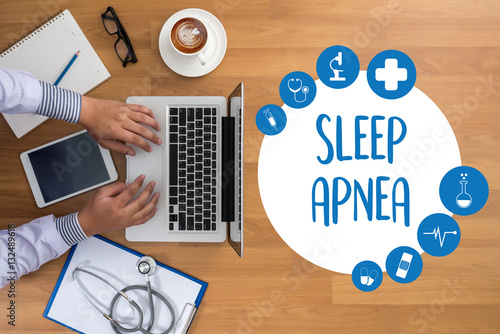 Photo sleep apnea using CPAP , machine SLEEP APNEA  , Diagnosis Sleep