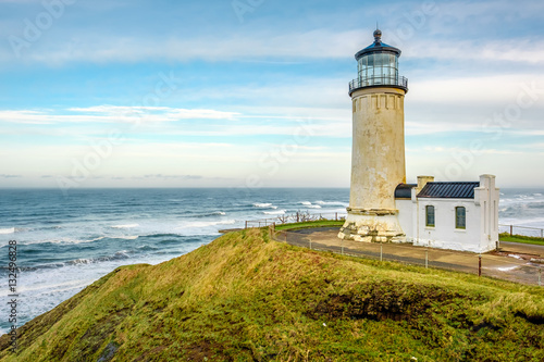 Foto auf Leinwand Leuchtturm North Head Lighthouse at Pacific coast, built in 1898