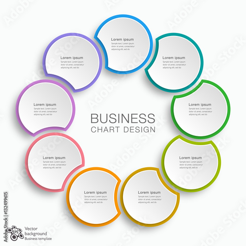 Tela  Business Chart Design 9-Step #Vector Graphic