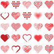 Hearts icon collection - vector illustration