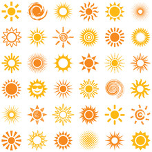 Sun Icon Collection - Vector I...