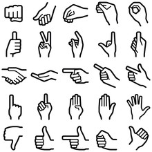 Hand Icon Collection - Vector ...