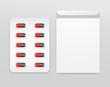 Capsule in Blister Pack : Vector Illustration
