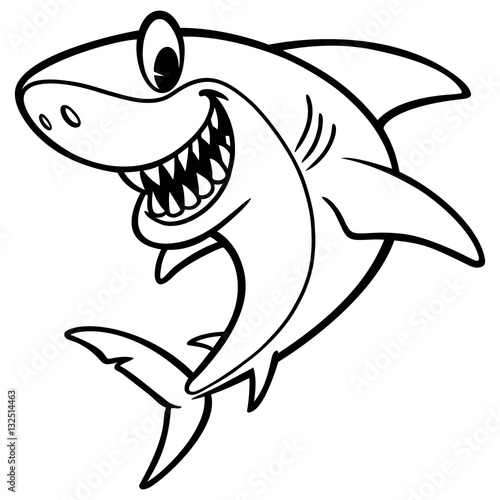 In de dag Cartoon draw Shark Cartoon Drawing