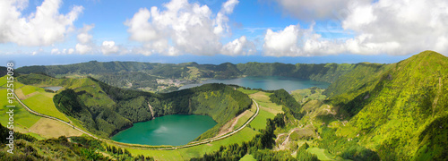 Poster Campagne azores island, sao miguel, lagoa do canario